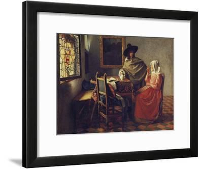 The Glass of Wine, about 1660/61-Johannes Vermeer-Framed Giclee Print