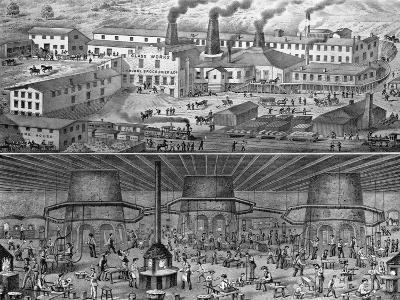 The Glassworks of J. H. Hobbs, Brockunier, and Co., Wheeling, West Virginia--Giclee Print