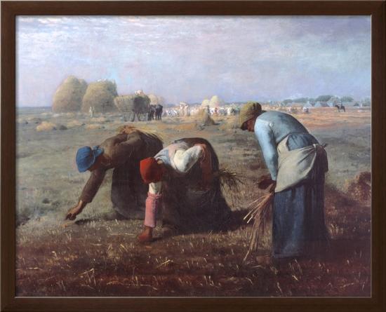 The Gleaners, c.1857-Jean-Fran?ois Millet-Framed Textured Art