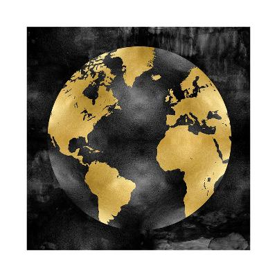 The Globe Gold on Black-Russell Brennan-Giclee Print