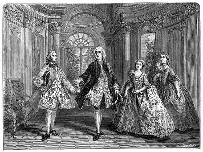The Glorious Comedy of Destouches- Lancret-Giclee Print