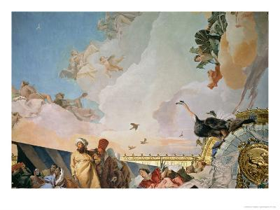 The Glory of Spain III, from the Ceiling of the Throne Room, 1764-Giovanni Battista Tiepolo-Giclee Print