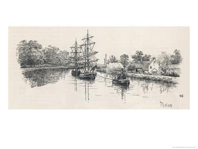 The Gloucester Ship Canal at Pertin-Edward Humphries-Giclee Print