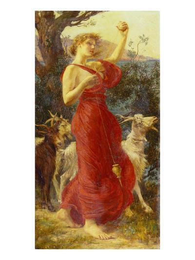 The Goat Girl-Edith Ridley Corbet-Giclee Print