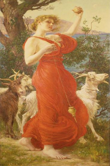 The Goat Girl-Edmondo De Amicis-Giclee Print