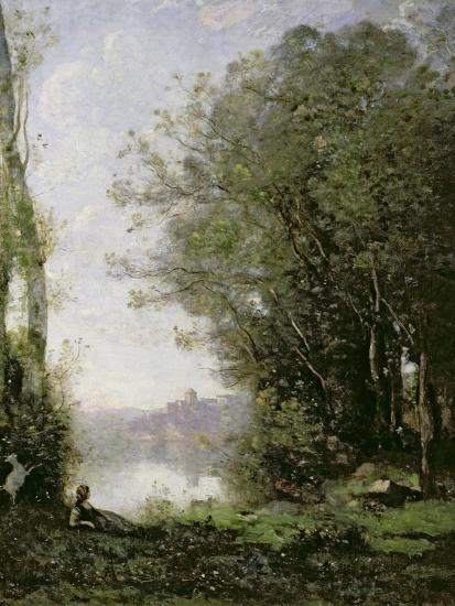 The Goatherd Beside the Water-Jean-Baptiste-Camille Corot-Giclee Print