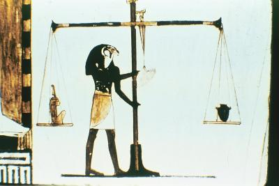 The God Horus Weighing the Heart of the Dead in a Balance, Ancient Egyptian, 28th Dynasty, C400 Bc--Giclee Print