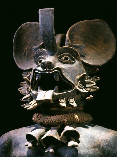 The God Murcielago, Terracotta, Aztec, from Chalco, Mexico--Photographic Print