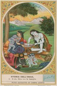 The God Shiva and His Family