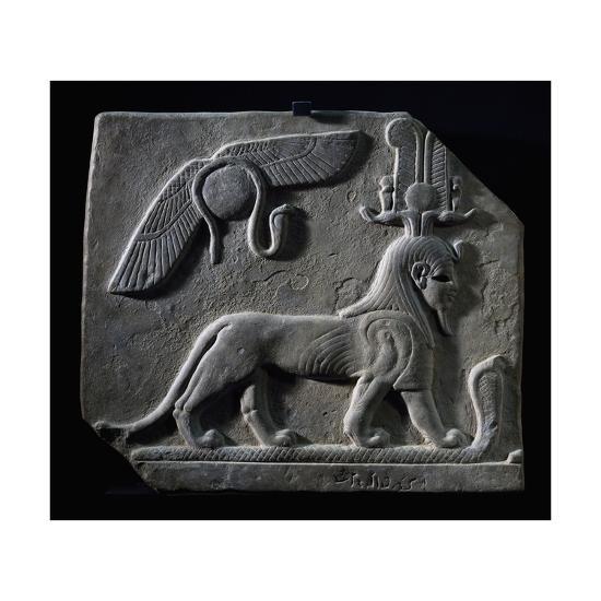 The God Tutu Trampling Cobra, Limestone, Ptolemaic Period, 4th-3rd Century BC--Giclee Print