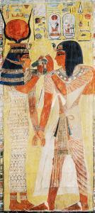 The Goddess Hathor Placing the Magic Collar on Seti I (circa 1394-1279 BC)