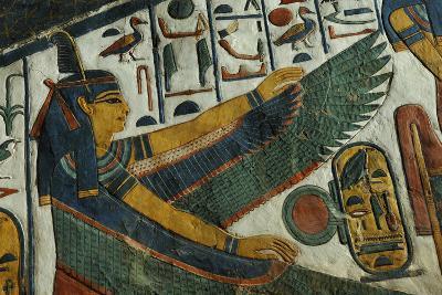 The Goddess Ma'at from the Tomb of Nefertari-Kenneth Garrett-Photographic Print