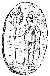 The Goddess Minerva Holding a Young Olive Tree