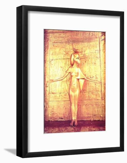 The Goddess Selket on the Canopic Shrine, from the Tomb of Tutankhamun-Egyptian 18th Dynasty-Framed Giclee Print
