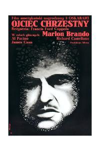 The Godfather (AKA Ojciec Chrzestny), Marlon Brando on Polish Poster Art, 1972