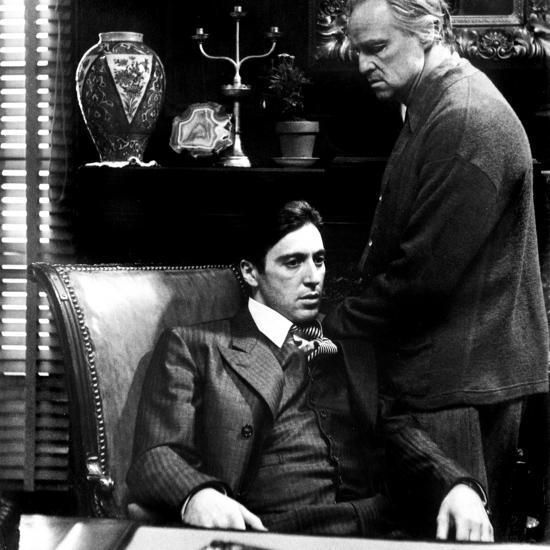 The Godfather, Al Pacino, Marlon Brando, 1972--Photo