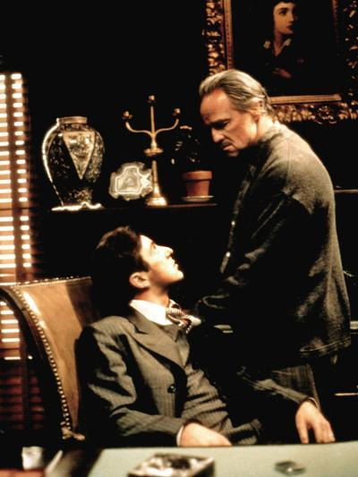 The Godfather, Al Pacino, Marlon Brando, 1972--Photo