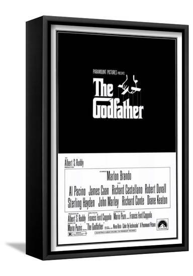 The Godfather--Framed Canvas Print