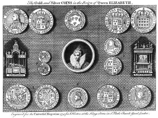 The Gold and Silver Coins in the Reign of Queen Elizabeth, 1751- Eldridge-Giclee Print
