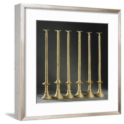 The Gold Candlesticks of Lebrija, Seville, Spain--Framed Giclee Print