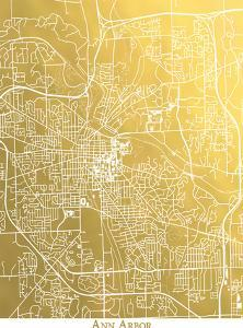 Ann Arbor by The Gold Foil Map Company