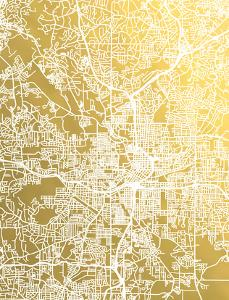 Atlanta by The Gold Foil Map Company