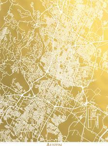 Austin by The Gold Foil Map Company