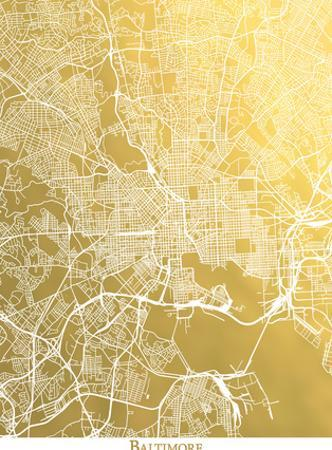 Baltimore by The Gold Foil Map Company