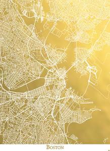Boston by The Gold Foil Map Company