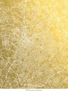 Charlotte by The Gold Foil Map Company