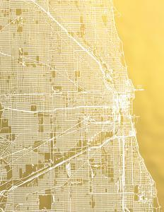 Chicago by The Gold Foil Map Company
