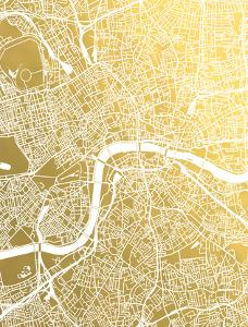 London by The Gold Foil Map Company