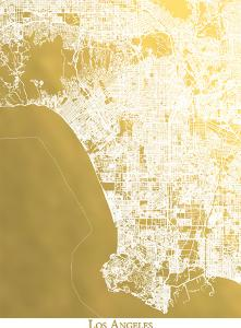 Los Angeles by The Gold Foil Map Company