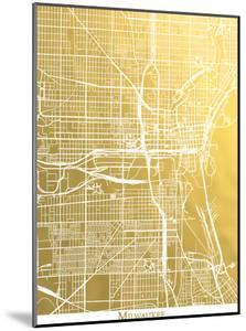 Milwaukee by The Gold Foil Map Company