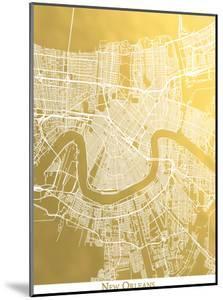 New Orleans by The Gold Foil Map Company