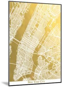 New York City Caps by The Gold Foil Map Company