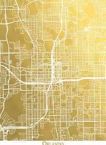 Orlando by The Gold Foil Map Company