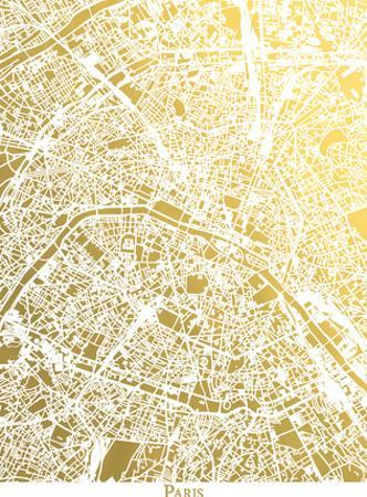 Paris New by The Gold Foil Map Company