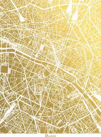 Paris Original by The Gold Foil Map Company