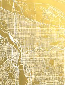 Portland by The Gold Foil Map Company