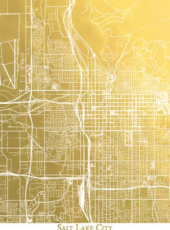 Salt Lake City by The Gold Foil Map Company