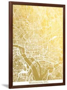 Washington Dc by The Gold Foil Map Company