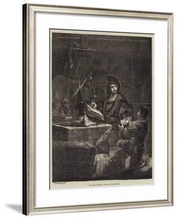 The Gold-Weigher-Rembrandt van Rijn-Framed Giclee Print