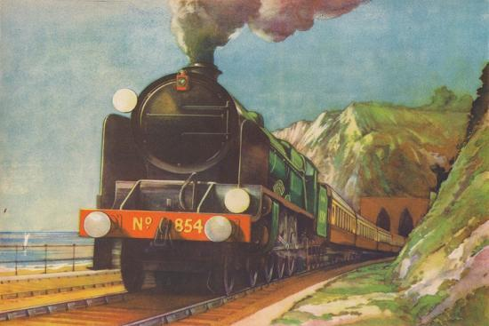 'The Golden Arrow, S.R., leaving Shakespeare's Cliff, Dover', 1940-Unknown-Giclee Print
