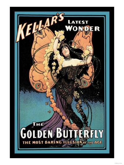 The Golden Butterfly: Kellar's Latest Wonder--Art Print