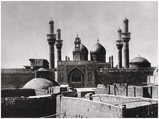 The Golden Domes and Minarets of the Al-Kadhimiya Mosque, Baghdad, Iraq, 1925-A Kerim-Giclee Print