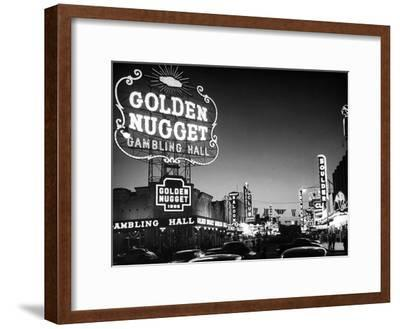 The Golden Nugget Gambling Hall Lighting Up Like a Candle-J. R. Eyerman-Framed Premium Photographic Print