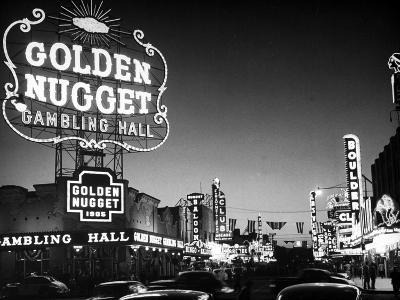 The Golden Nugget Gambling Hall Lighting Up Like a Candle-J^ R^ Eyerman-Photographic Print