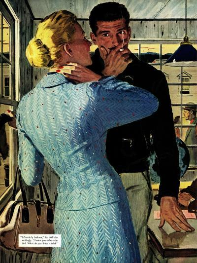 """The Golden Shadow - Saturday Evening Post """"Men at the Top"""", March 2, 1957 pg.20-Mac Conner-Giclee Print"""