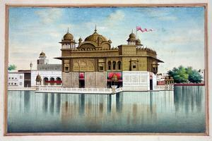 The Golden Temple at Amritsar, from 'The Kingdom of the Punjab, its Rulers and Chiefs, Volume I',…